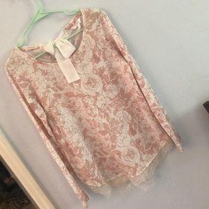Lauren Conrad sweater blouse size S